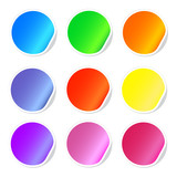 Colorful sticky web icons