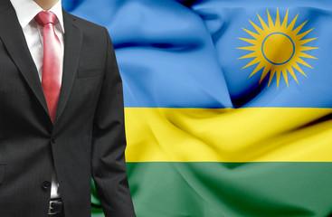 Businessman from Rwanda conceptual image