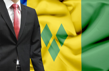 Businessman from Saint Vincent and Grenadines conceptual image