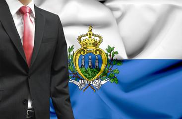Businessman from San Marino conceptual image