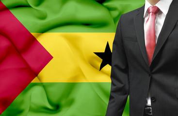 Businessman from Sao Tome and Principe conceptual image