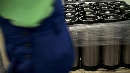 Transportation of beer kegs on a pallet