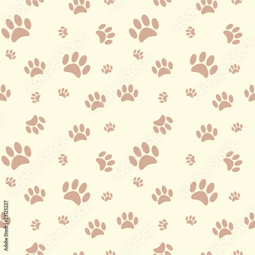 Background With Dog Paw Print And Bone Stock Image And