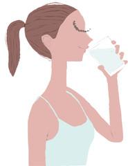女性 健康 水