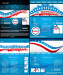 4th of july website template presentation collection colorful de