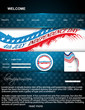 4th of july website template vector illustration