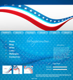 4th of july website template design vector