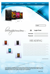 Website template mobile colorful vector illustration