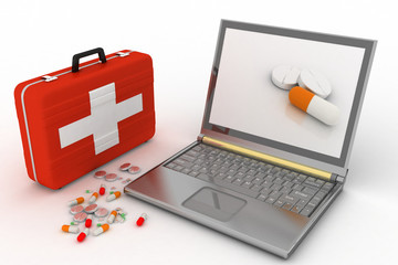 Pills for a laptop,  diagnosis and repair of computers