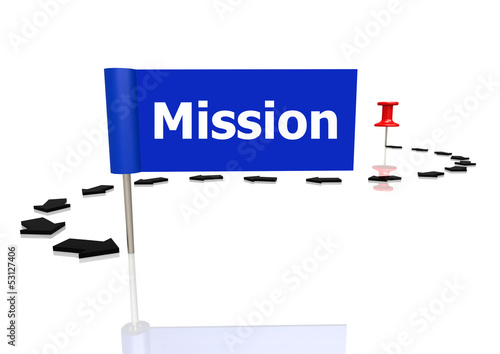 Push pin to mission