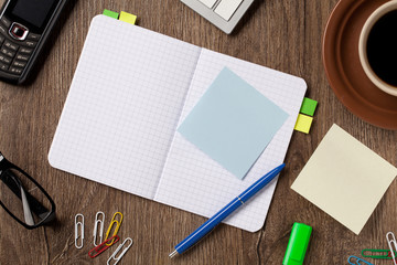 Notebook and office supplies