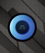 Hi-tech glossy futuristic shapes