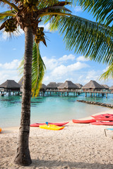 Tropical beach on Moorea island