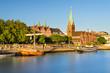 Leinwanddruck Bild - Bremen im Abendlicht
