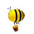 3d rendered of a Bee Cute Character