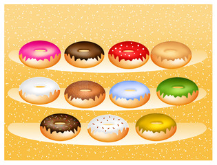 various flavors of donuts