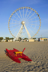 Ferris wheel on the beach