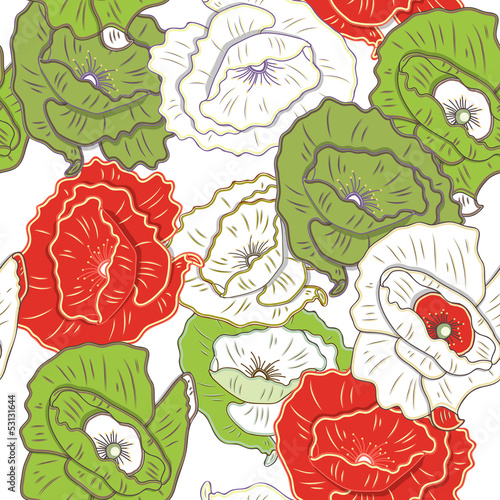 Fototapeta Floral texture