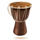 Darbuka drum, isolated on white background