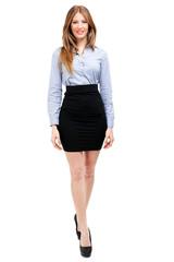 Beautiful businesswoman full length