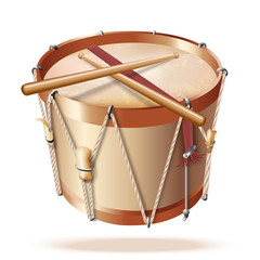Traditional drum, isolated on white background
