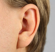 ear of the person, closeup