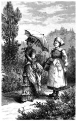 Madame & Servant - Burgess & Peasant - end 19th century