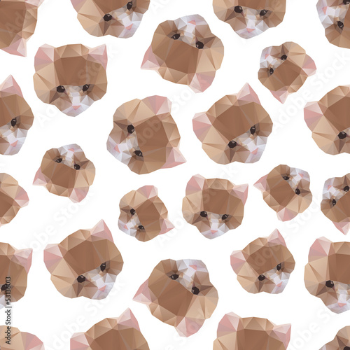Deurstickers Geometrische dieren Cat from a geometrical pattern