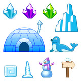 Ice world assets poster
