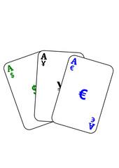 Spielkarten Währungsspekulation