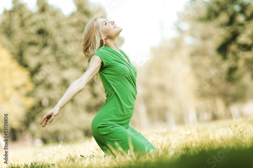 Woman enjoy nature