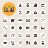 Fototapety Education icons set. Illustration