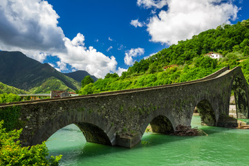 Cities of the turquoise river in Borgo a Mozzano