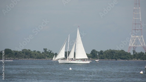 Sailboats in Chesapeake Bay, USA