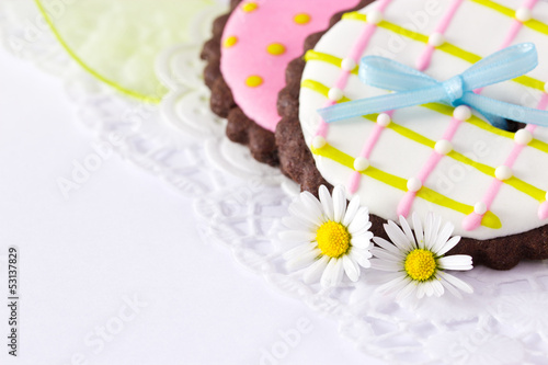 canvas print picture Cookies and flowers