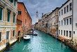 Venice water channel in Italy