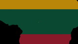 people shaking hands on Lithuania map flag animation
