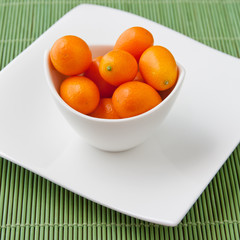 Fresh ripe Kumquats in a bowl