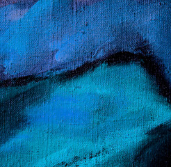 abstract dark blue violet painting by oil on canvas, illustratio