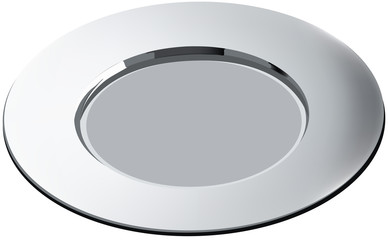 piatto d'acciaio