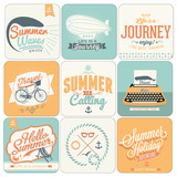 9 Retro background for Summer