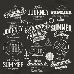 Typographic elements for Summer