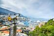 Monaco Montecarlo aerial view cityscape. Azure coast. France
