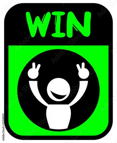 Green emblem win