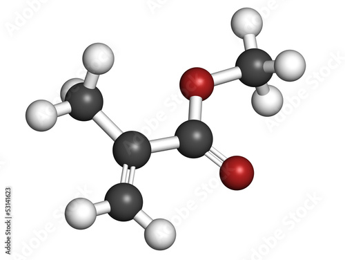 Methyl methacrylate molecule, poly(methyl methacrylate) or acryl