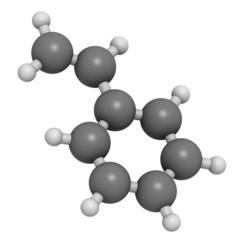 Styrene (vinyl benzene), polystyrene (PS) plastic building block