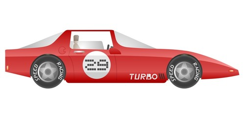 Red turbo car