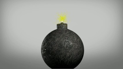 Exploding Old Fashioned Bomb animation