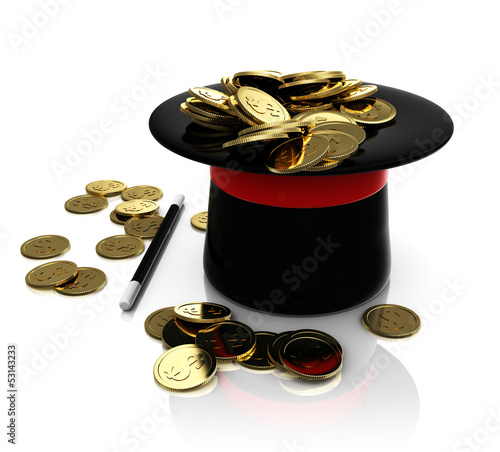 top hat trick with coins