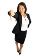 Thumbs down Asian Business Woman